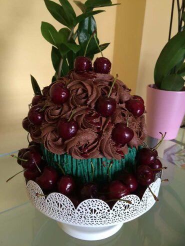 Cupcake grande de Cereza del Jerte